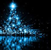 Fotografie modrý vánoční strom