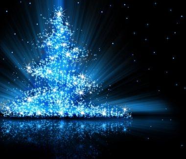 Christmas  blue tree
