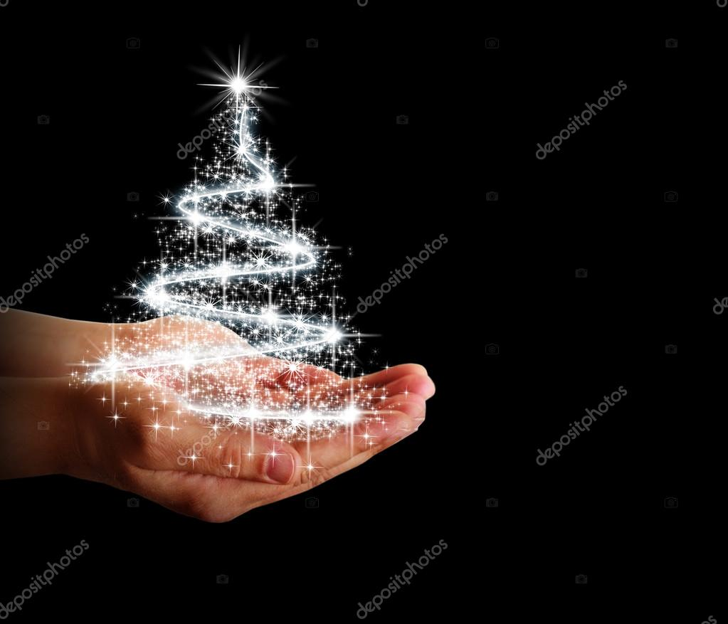 Sterne Für Weihnachtsbaum.Weihnachtsbaum Sterne Und Lichter In Ihren Händen Stockfoto