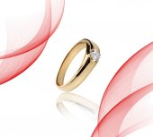 Photo Engagement Gold with stone ring