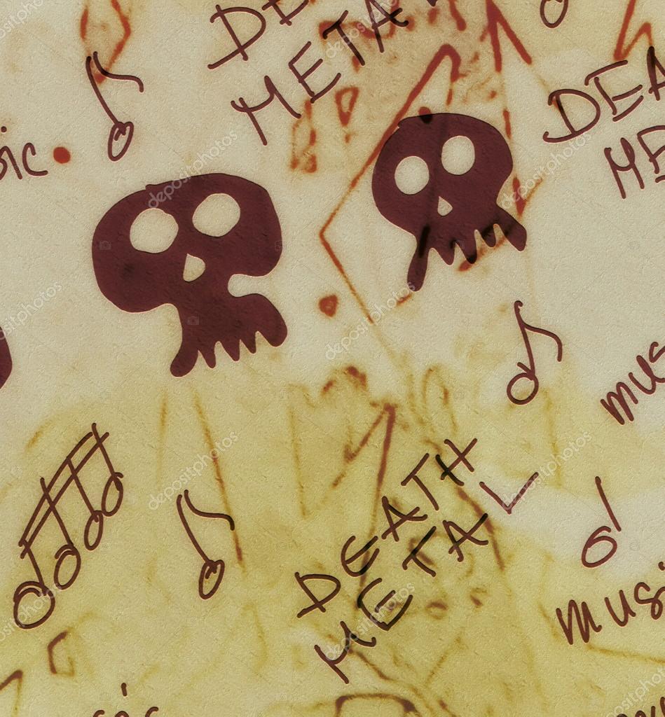 death metal word music grunge background — Stock Photo © dusan964 ...