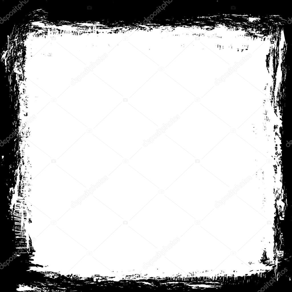 grunge black ink border frame background grunge paint