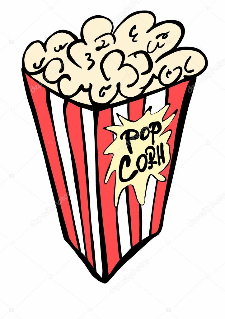doodle bolsa de papel llena de palomitas de ma u00edz foto de clip art popcorn balls clip art popcorn baseball ticket hot dog