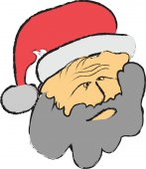 Doodle Santa hlava
