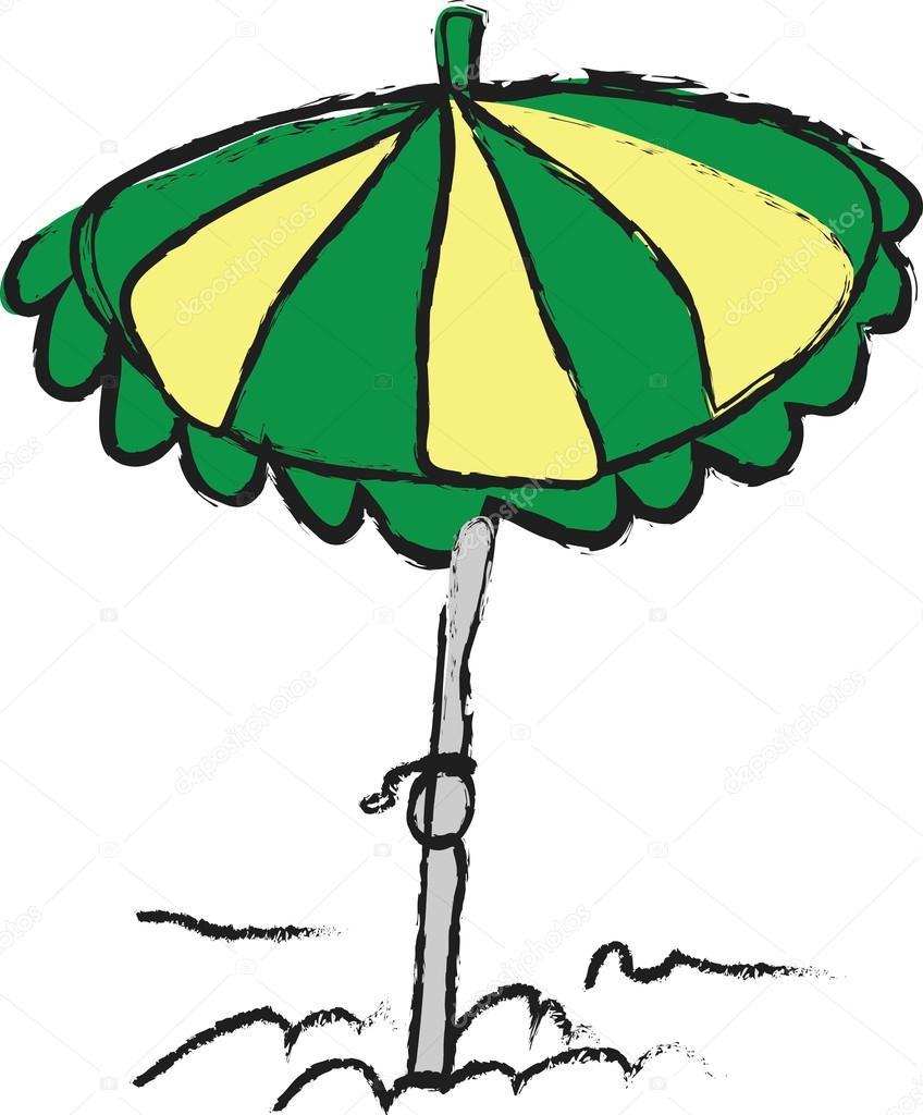 Dessin Parasol parasol de plage de dessin animé — photographie dusan964 © #59984471