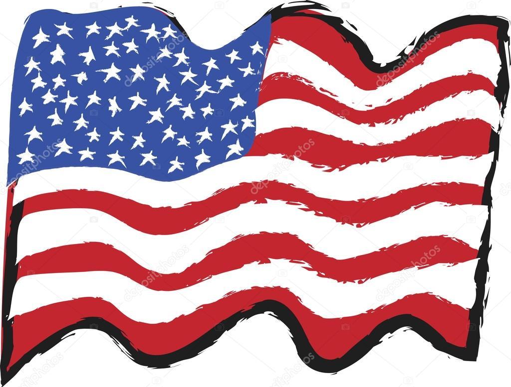 Dibujos Animados De Bandera De Estados Unidos