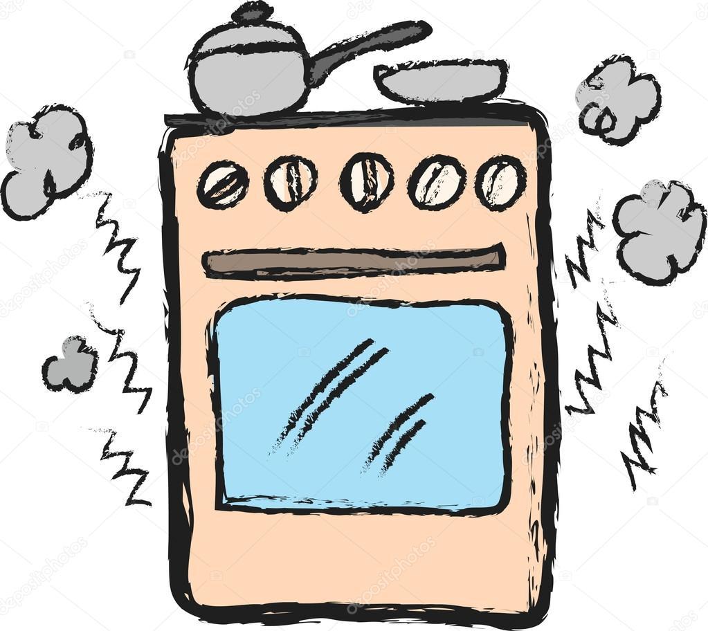 Dibujos animados de cocina fotos de stock dusan964 for Dibujos de cocina