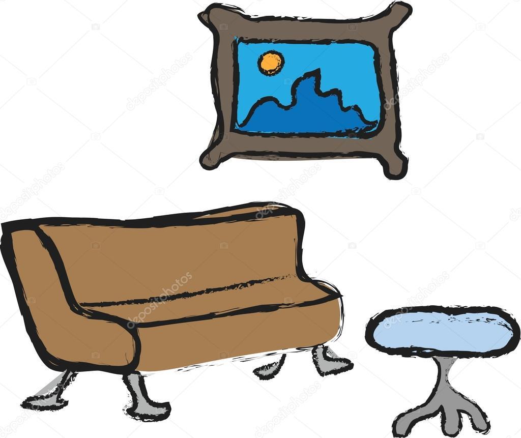 Dibujos Animados Iconos De Muebles Fotos De Stock Dusan964  # Muebles Dibujos Animados