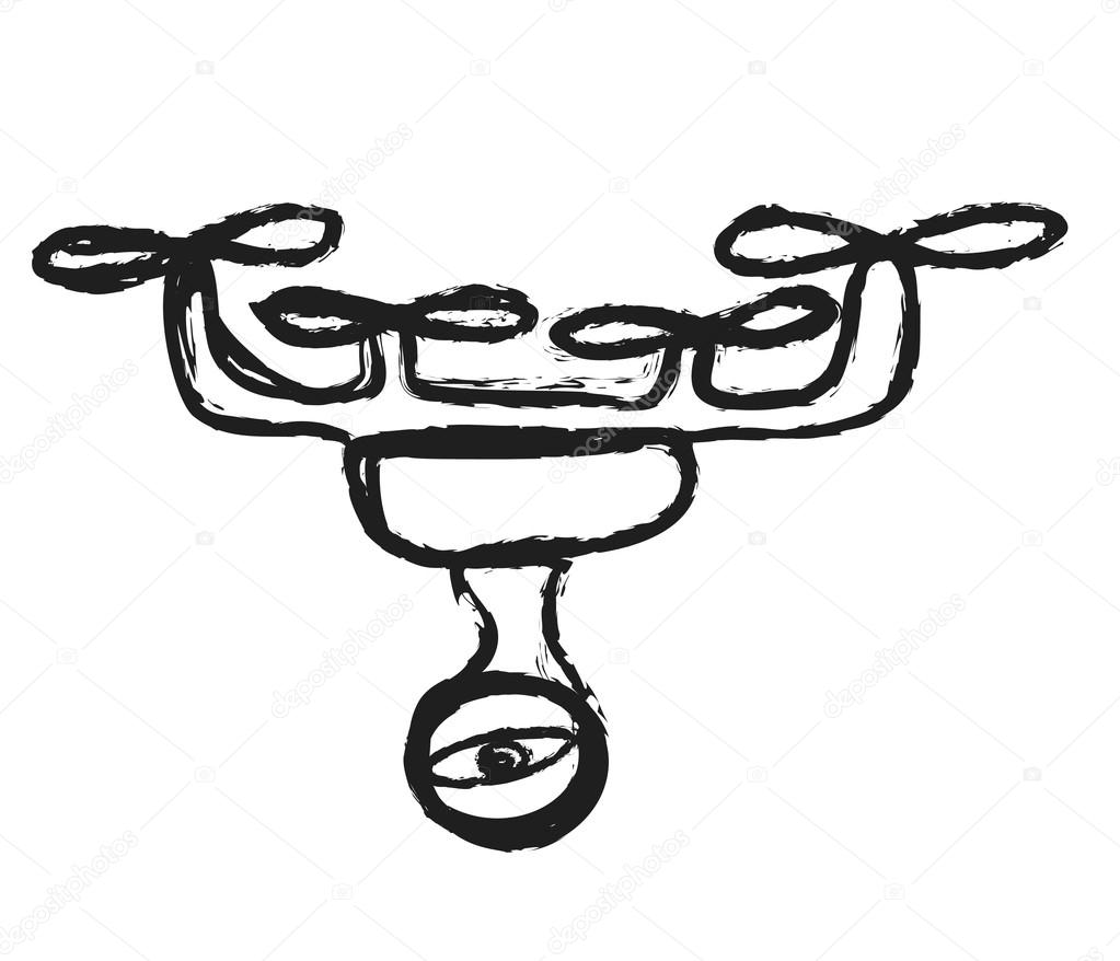 Doodle Drone With Camera Stock Photo C Dusan964 67904281