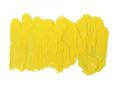 Photo yellow grunge brush strokes oil paint isolated on white background stock vector