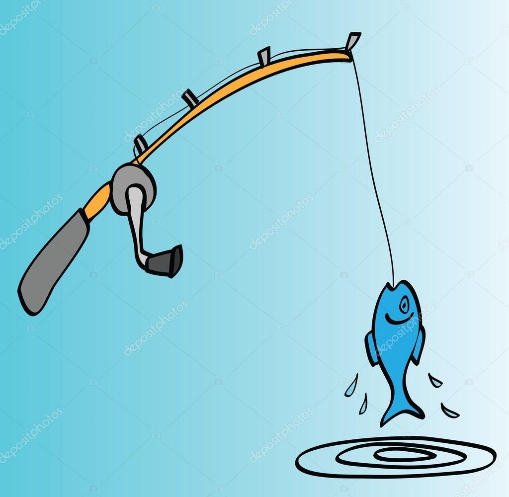 Cartoon Fishing Rod Stock Photo Image By C Dusan964 69198657