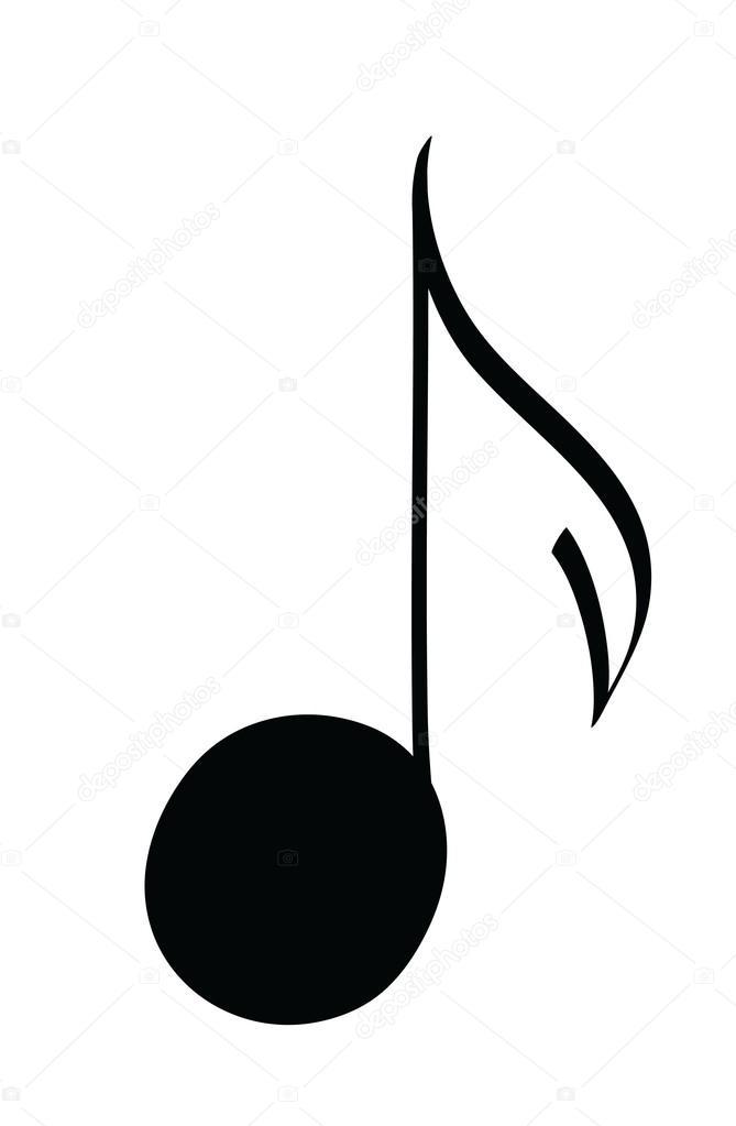 Icono de dibujos animados notas musicales — Fotos de Stock