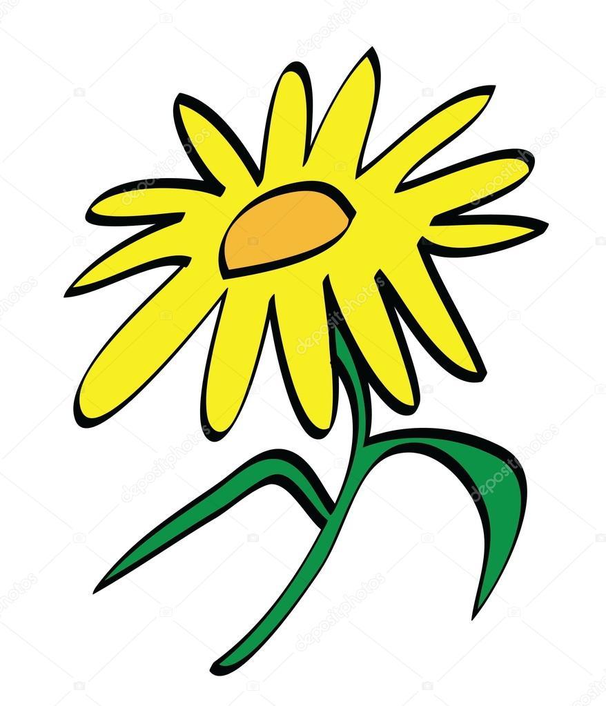Cartoon Yellow Flower Icon Stock Photo Dusan964 69398921