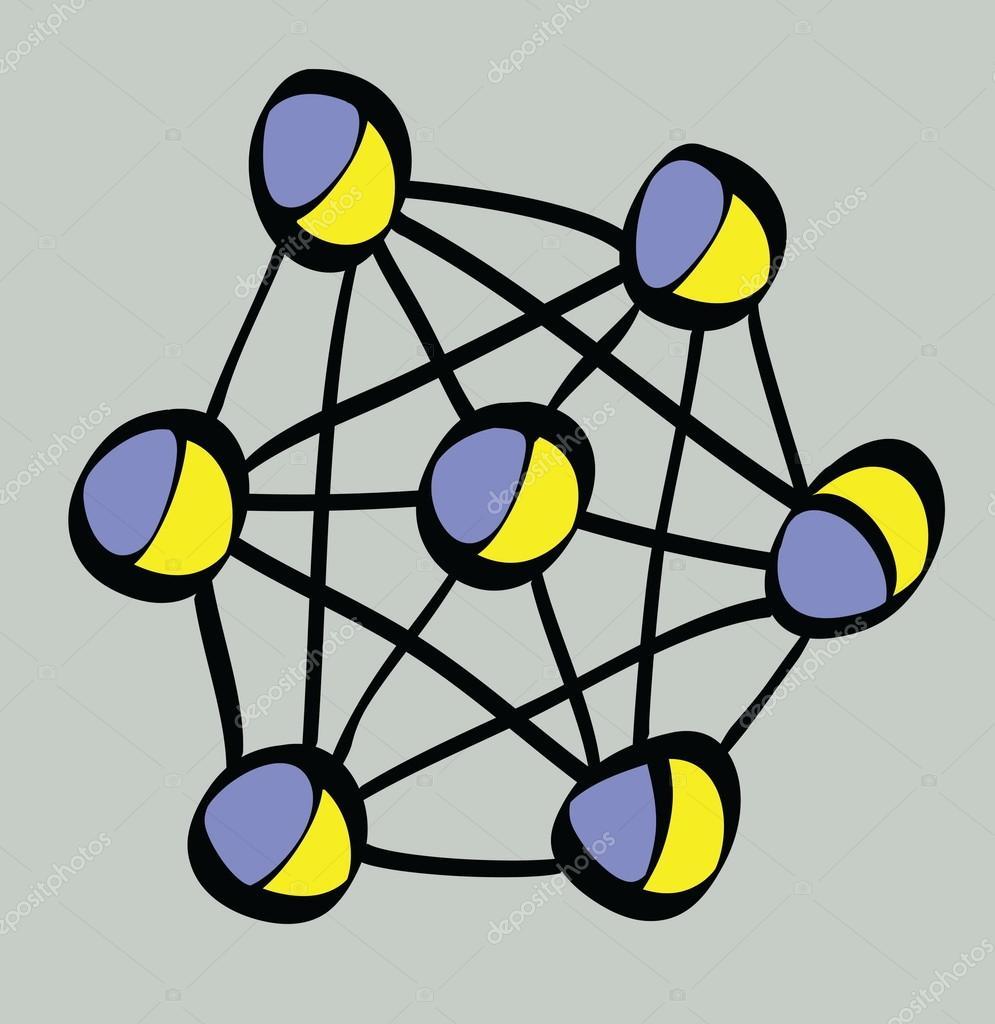 Desenho Da Estrutura Física Atômica Stock Photo Dusan964