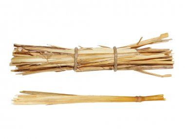 Set pile straw isolated on white background, (with clipping path)