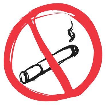 doodle no smoking sign