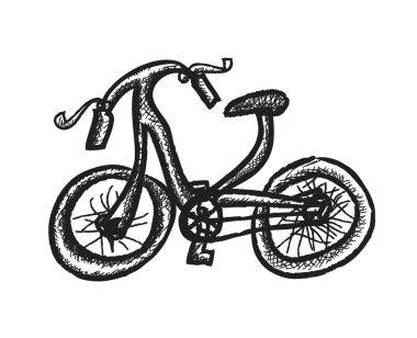 doodle bike,  illustration icon