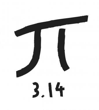 Pi symbol with the sum formula Pi equals 3.14