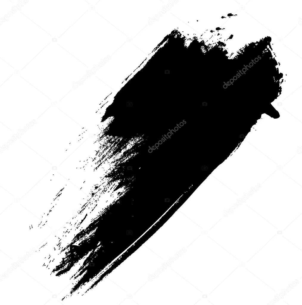 Black Grunge Brush Stroke Background Illustration Design