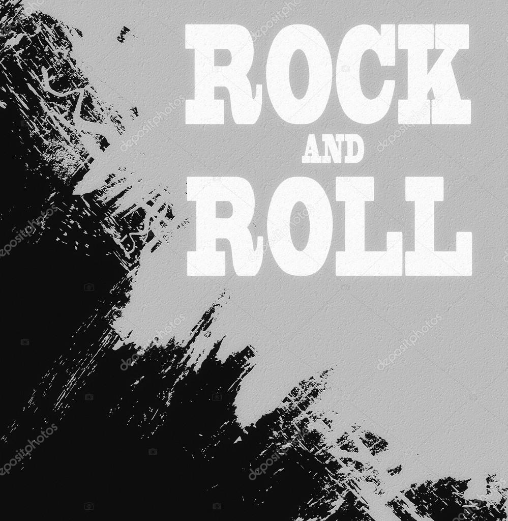 Fondo Música De Rock N Roll Icono De Concepto De La