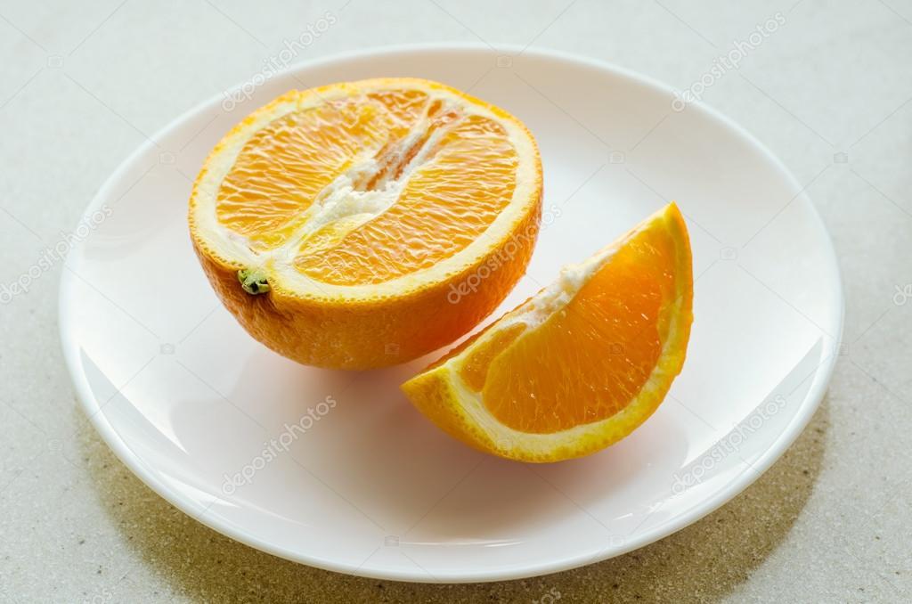 три апельсина на тарелке картинка была