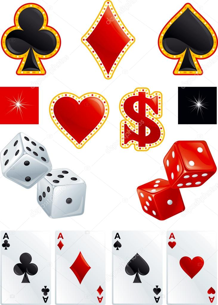Vector casino set
