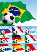 Fényképek Készlet (3) foci háttérrel