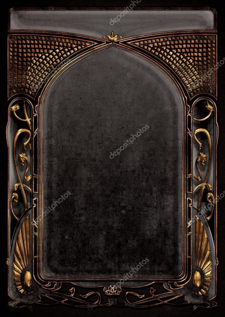 Jugendstil-Hintergründe und Rahmen — Stockfoto © greglith #71487123