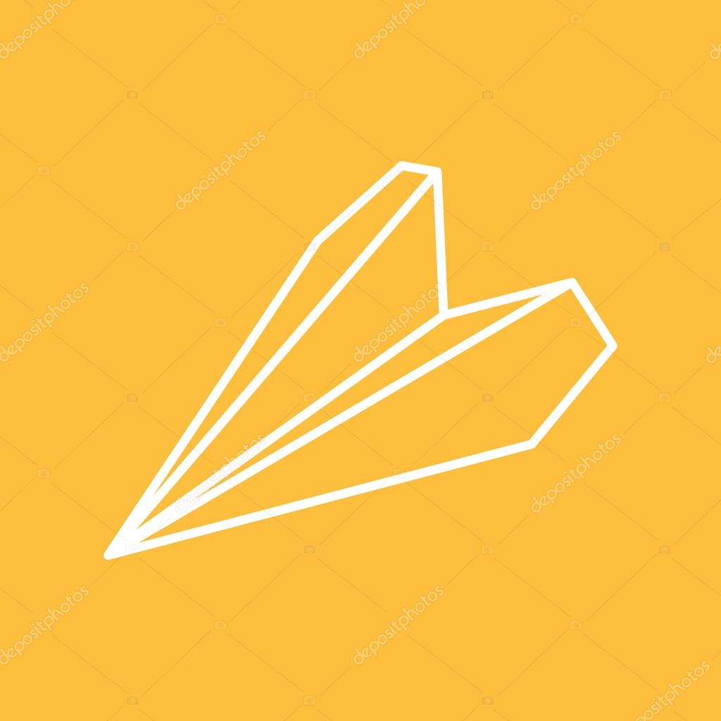 Paper plane thin line icon paper origami airplane symbol vector paper plane thin line icon paper origami airplane symbol vector de stock malvernweather Images