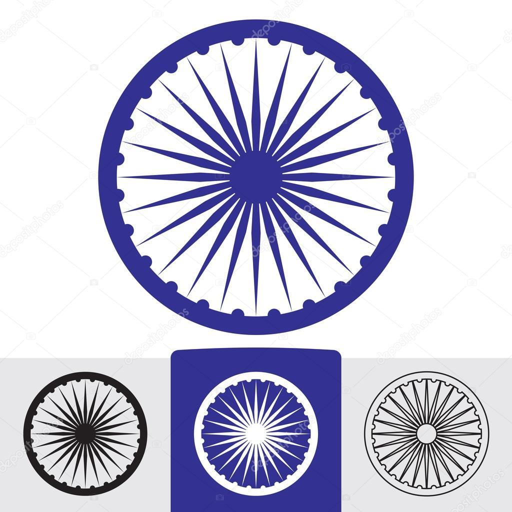 Ashoka Wheel Indian Symbol Creativika