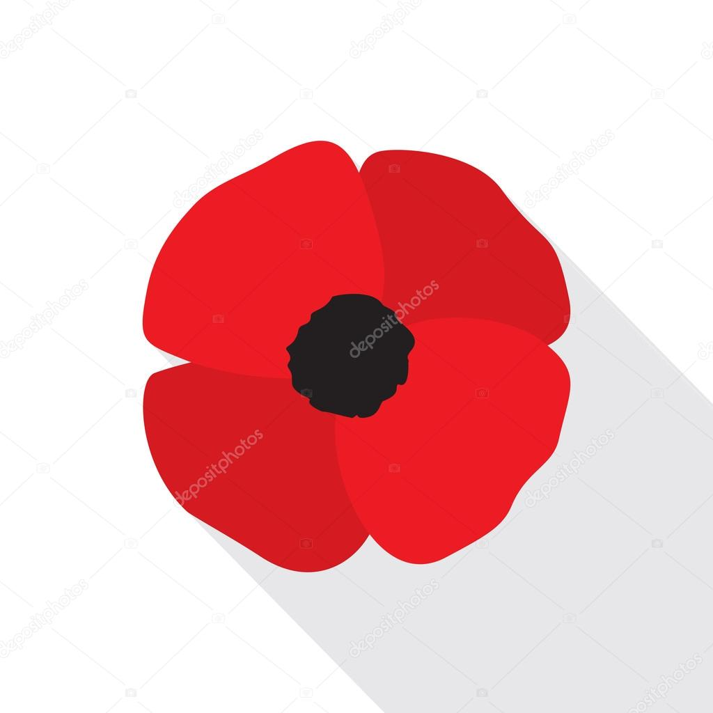 Red poppy flower flat icon stock vector creativika 120264902 red poppy flat icon stylized flower symbol vector illustration in eps8 format vector by creativika buycottarizona