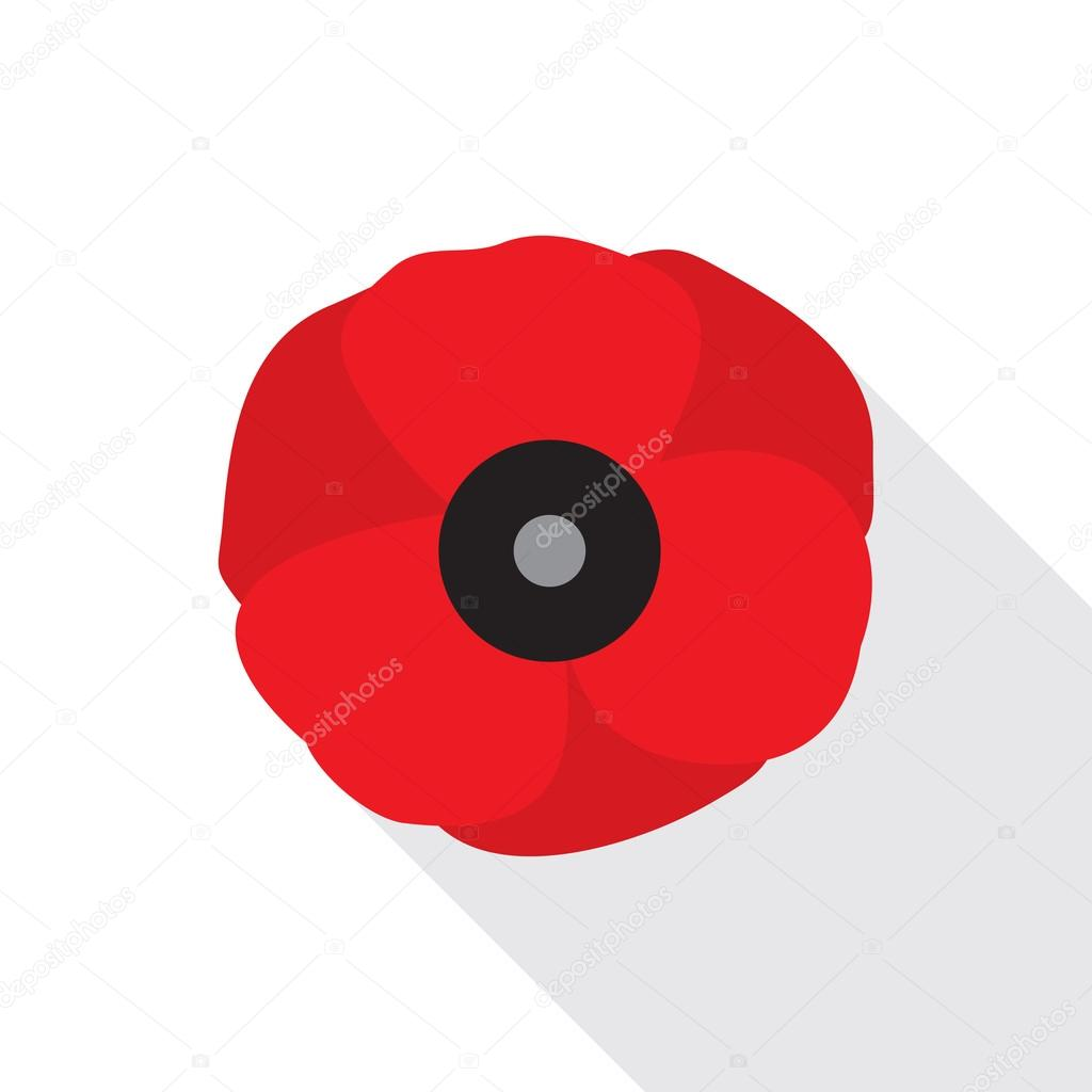 Red poppy flower flat icon stock vector creativika 120265020 red poppy flat icon stylized flower symbol vector illustration in eps8 format vector by creativika buycottarizona