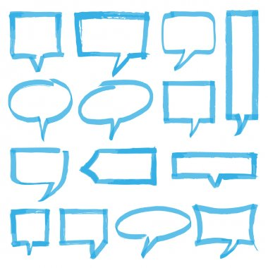 Highlighter Speech Bubbles Design Elements