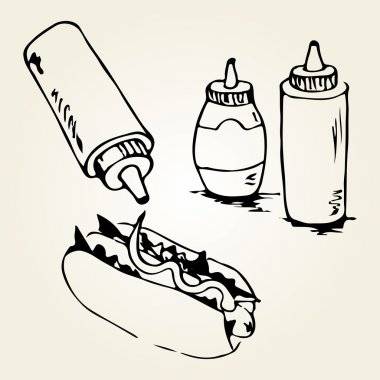 Hot Dog Hand Drawn Illustrations