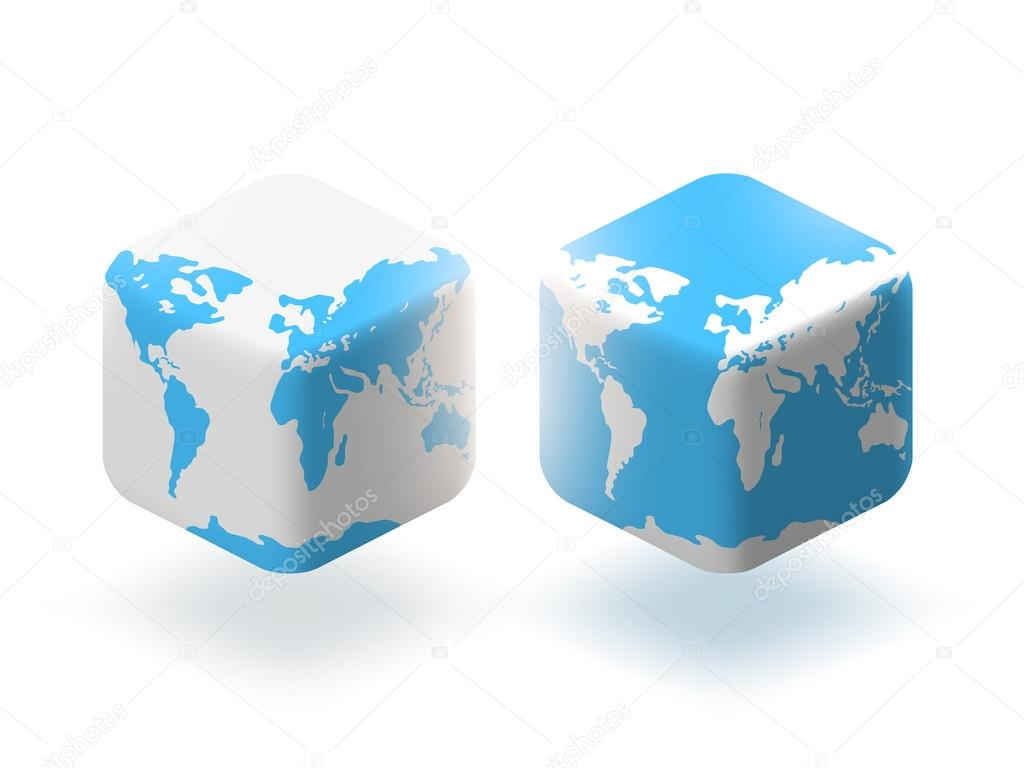 Cube style globe world map stock vector soundrain 56318329 cube style globe world map stock vector gumiabroncs Image collections
