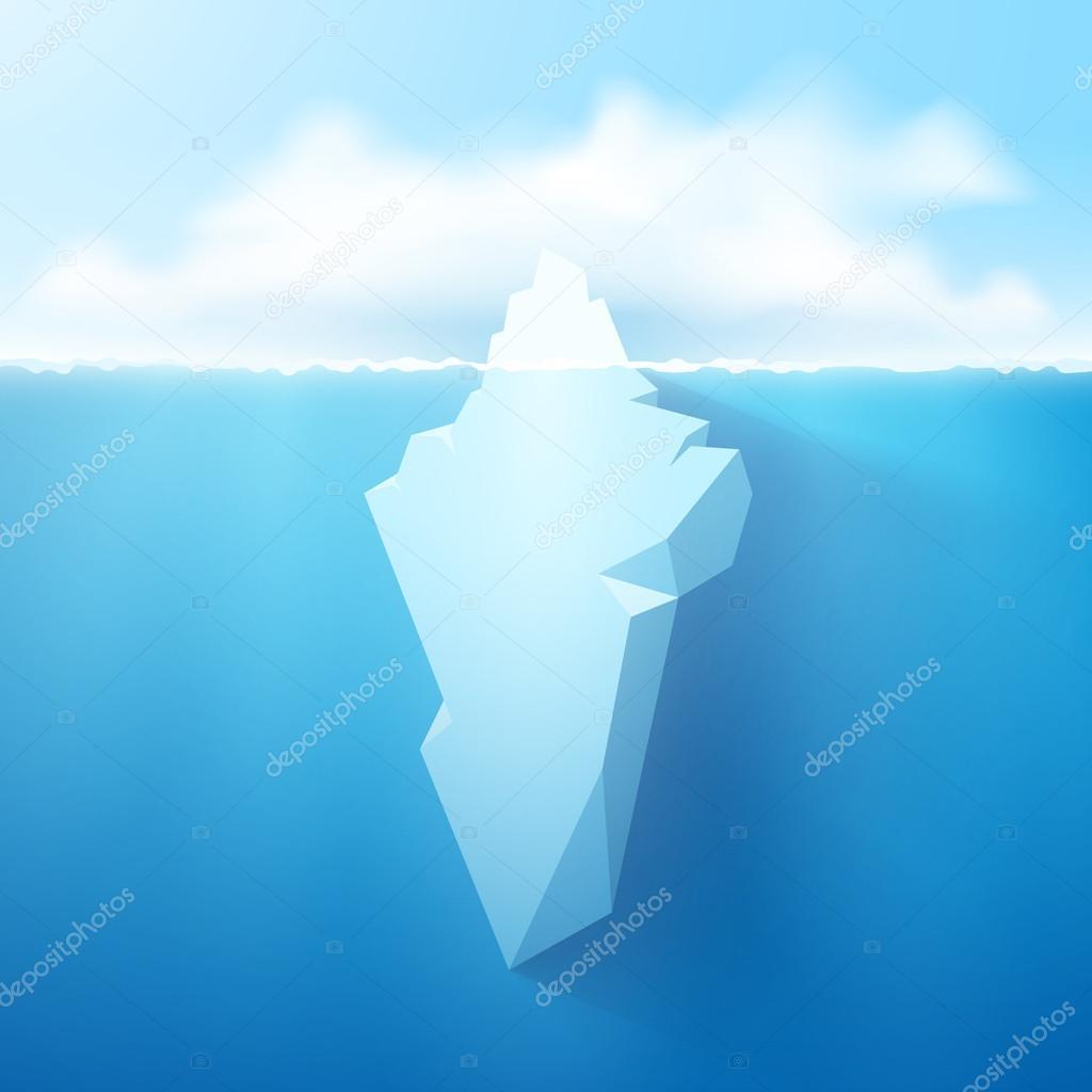Iceberg concept illustration.