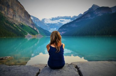 Waiting for the Sunset at Lake Louise, Canada