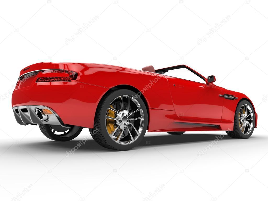 Extrêmement Vue arrière de voiture de sport décapotable rouge - studio shot  RV61