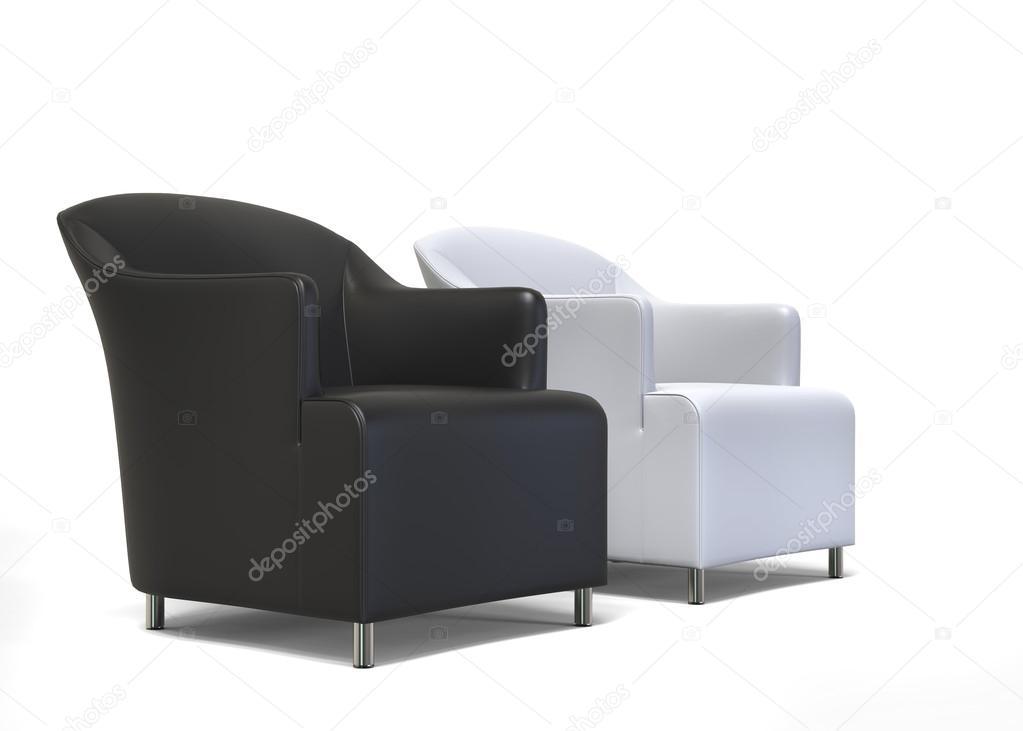 Twee Klassieke Fauteuils.Fauteuil Wit Leer Eichholtz Chair Fauteuil Chair Gregory White