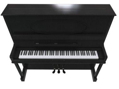Pretty small piano - top view