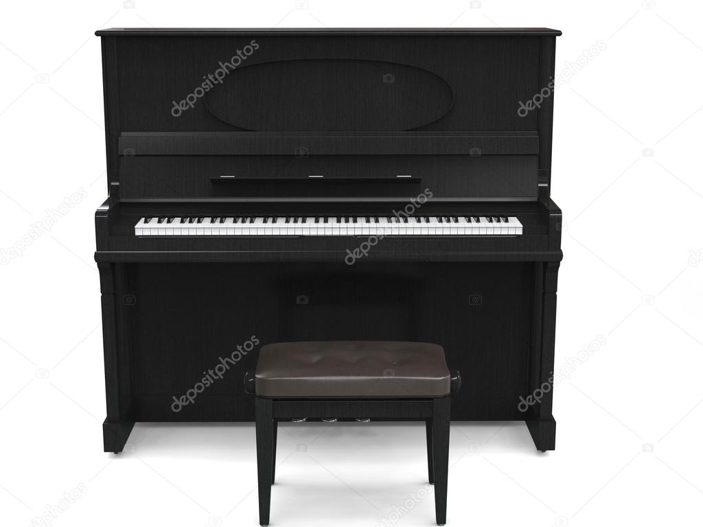 piano droit et petit banc de piano photographie trimitrius 115780342. Black Bedroom Furniture Sets. Home Design Ideas