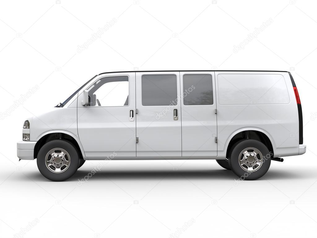 3bfa545ca1 Modern white van - side view — Stock Photo © Trimitrius  115780806
