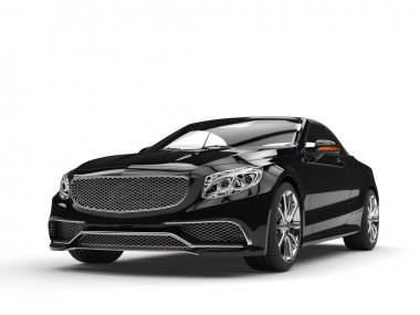Black business car - studio shot