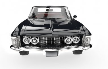 Classic American Car - Front View