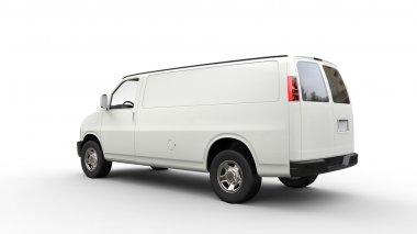 White Van - Back View