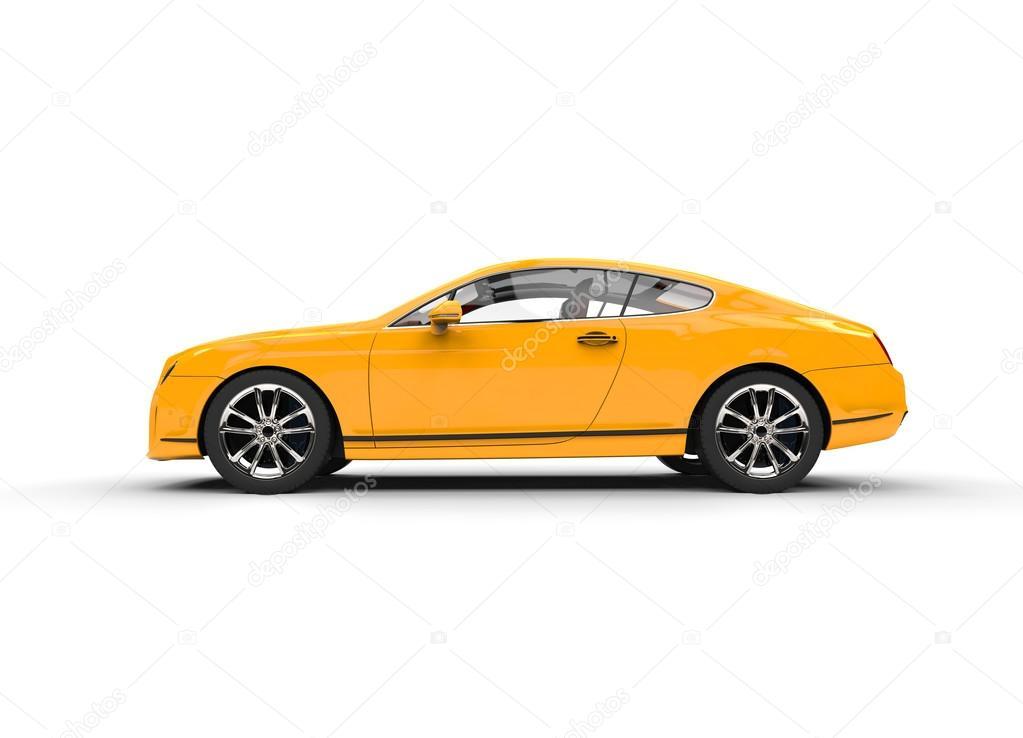 vue de c t de voiture luxe jaune photo ditoriale trimitrius 83370492. Black Bedroom Furniture Sets. Home Design Ideas