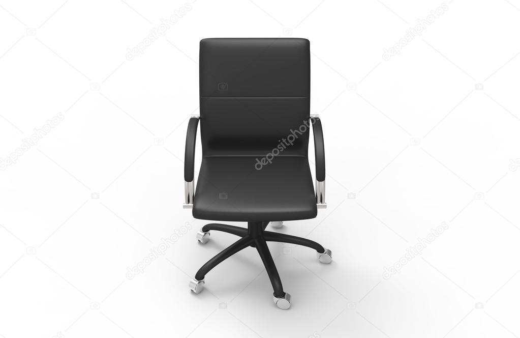 Lederen stoel van het bureau top vooraanzicht u stockfoto
