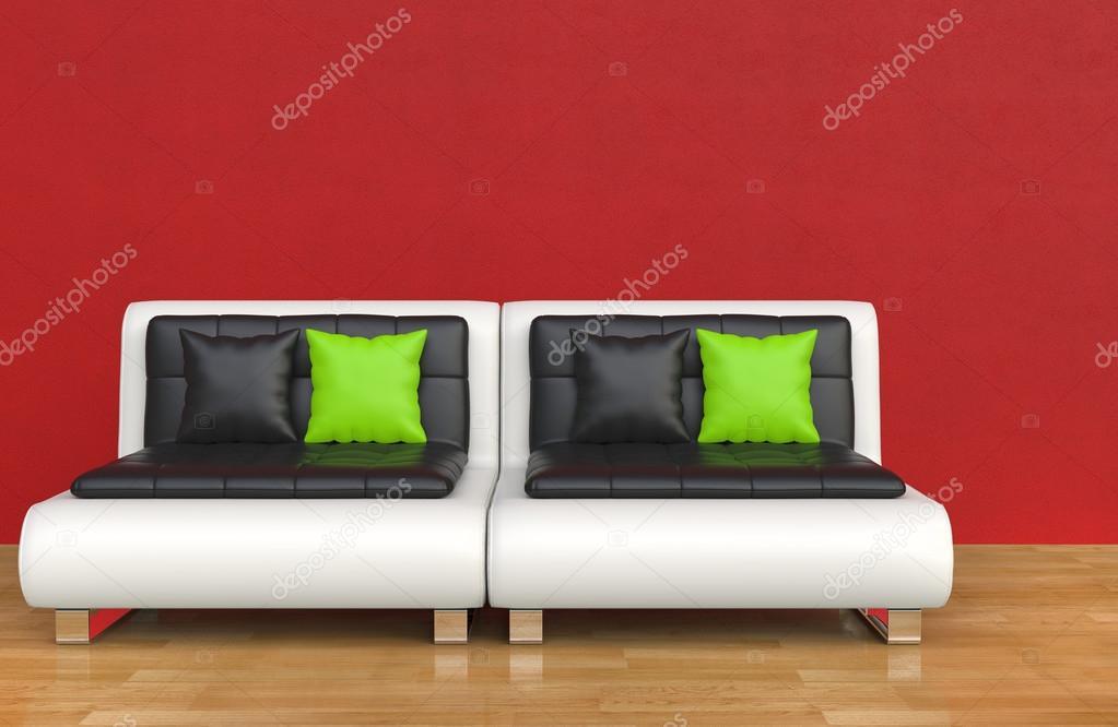 Rode lounge kamer u2014 stockfoto © trimitrius #83371800