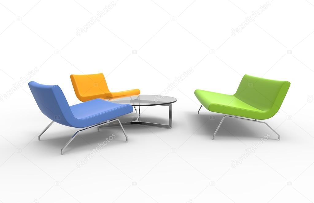 Wohnzimmer Möbel Set   Warme Farben U2014 Foto Von Trimitrius