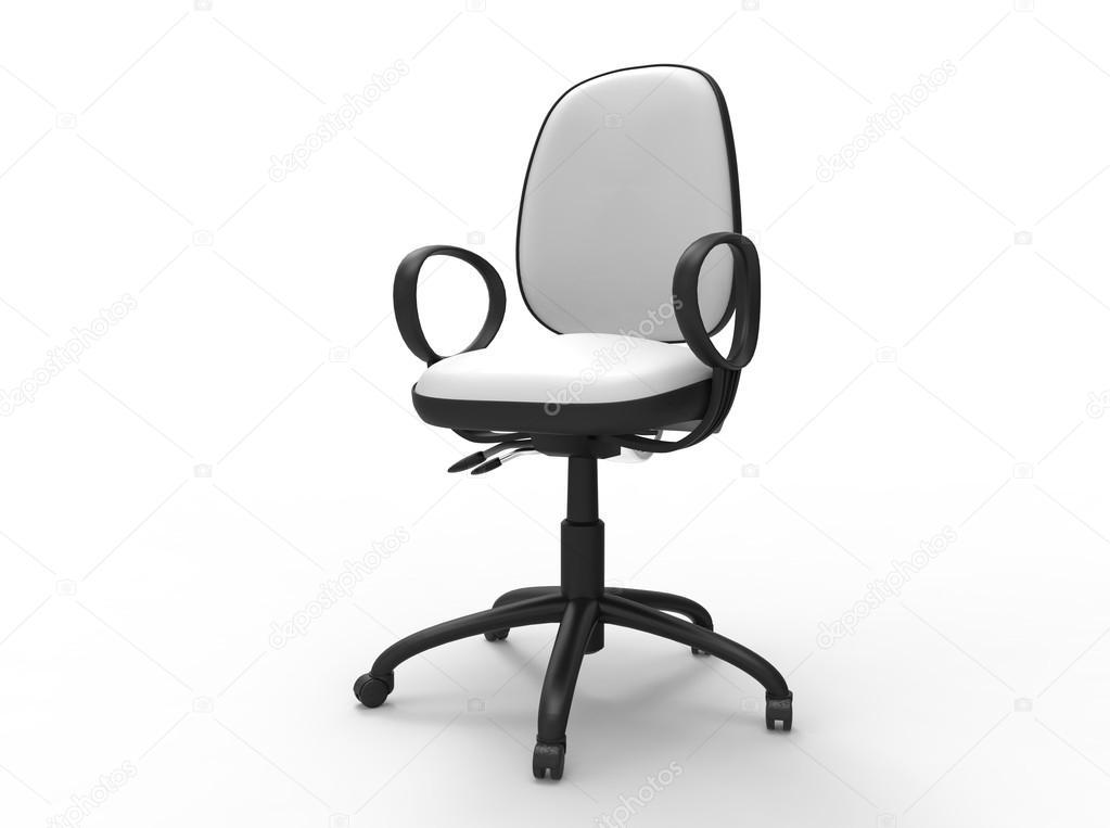 Sedia da ufficio bianca u foto stock trimitrius